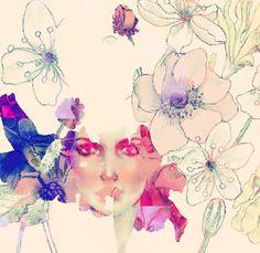 flower illustrations | flower, flowers, girl, illustration, light, wild flowers - image ...