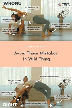 Avoid These Mistakes In Wild Thing Wild Thing is an asana that has many names: Rock Star, Flip Dog, or its Sanskrit name Camatkarasana Yoga Positions For Beginners, Yoga For Beginners, Qigong, Sanskrit, Yoga Poses Names, Mudras, Yoga Music, Yoga For Kids, Kid Yoga
