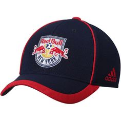 Youth New York Red Bulls adidas Navy Fan Piping Structured Adjustable Hat 8f855e861d1