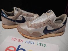 Vtg 1985 Men's Kids Nike Metro Nylon Waffle Cortez Daybreak Metallic Blue jordan #Nike #AthleticSneakers