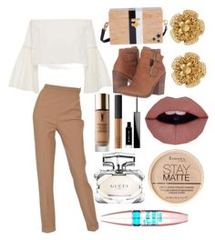 """""""Untitled #11"""" by itzmezara on Polyvore featuring Edie Parker, Rosetta Getty, Hermès, Steve Madden, Miriam Haskell, Yves Saint Laurent, NARS Cosmetics, Givenchy, Gucci and Rimmel"""