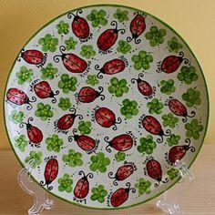 Ladybug thumbprint plate. Teacher gift?