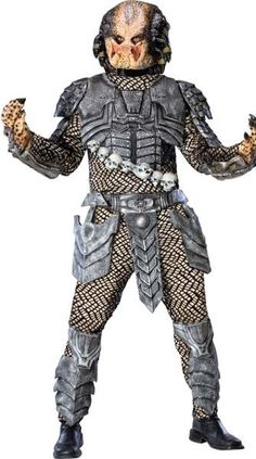 Perfect for your next Halloween party or convention this impressive Men's Predator Costume by Osfm will make you look like you just stepped out of a movie screen. Size: One Size. Men's Predator Costume One Size Fits Most Wholesale Halloween Costumes, Costumes For Sale, Halloween Costumes For Kids, Adult Costumes, Men's Costumes, Space Costumes, Halloween Ideas, Halloween Party, Halloween Decorations
