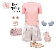"""Spring Looks"" by chauert ❤ liked on Polyvore featuring Miu Miu, 1928, Avenue and H&M"