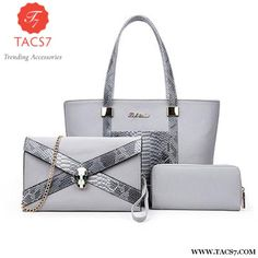 Serpent Design Women Handbags 3 Pcs