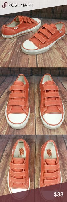 VANS Prison Issue Orange canvas Shoes Wo's 9 Excellent pre-owned Condition Women's size 9 men's size 7.5.  Please see pics for details, no trades Vans Shoes Sneakers