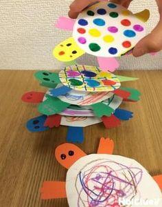 亀の裏には、ランダムに貼られたペットボトルキャップ。亀タワーを崩さないように、たくさん積み上げてみよう!何度でも繰り返しチャレンジしたくなる、身近な材料を使った手作りおもちゃ。 Fun Games, Games For Kids, Diy For Kids, Activities For Kids, Crafts For Kids, Summer Crafts, Diy And Crafts, Arts And Crafts, Paper Crafts