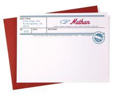 Telegram stationery from Thepaperwink.com.