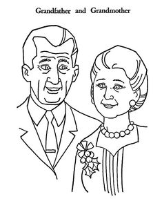 Grandfather And Grandmother Coloring Pages : Color Luna Preschool Color Activities, Headband Crafts, Drawing Sketches, Drawings, Online Coloring, More Pictures, Grandparents, Coloring Pages, Folk