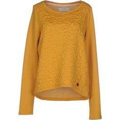 Only Sweatshirt ($41) ❤ liked on Polyvore featuring tops, hoodies, sweatshirts, ochre, long sleeve sweatshirt, long sleeve tops, sweatshirts hoodies, sweat tops and yellow sweatshirt