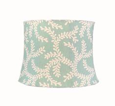 Aqua Lamp Shade, Coastal Lamp Shade, Eclectic Lamp Shade, Blue Lamp Shade, Floral Lamp Shade, FREE SHIPPING - Continental US Eclectic Lamp Shades, Eclectic Lamps, Coral Lamp, Blue Lamp Shade, French Lamp Shades, Custom Lamp Shades, Kinds Of Fabric, Cotton Twill Fabric, Lamp Bases