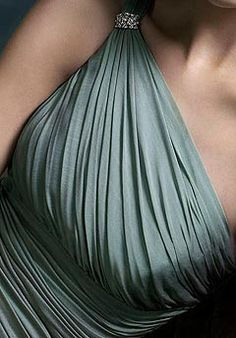 Love this type of rouching on a one shoulder dress...reminds me of my bridesmaid dresses for my wedding :)