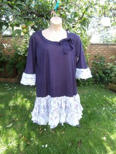 Plus Size Upcycled Sweater Dress 'Sugar Plum' by StrangelyMagical