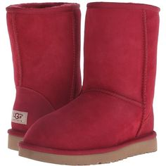 UGG Classic Short Women's Pull-on Boots ($155) ❤ liked on Polyvore featuring shoes, boots, knee-high boots, knee high boots, slip on ankle boots, slip on shoes, faux fur boots and ugg australia boots
