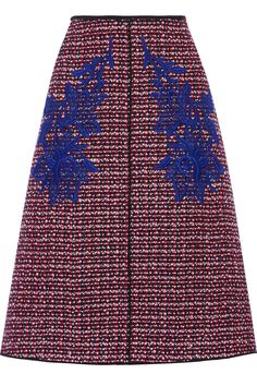 Marc Jacobs   Midi юбка шерстяная твид с цветком приложений   NET-A-PORTER.COM