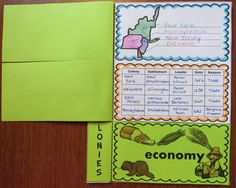 Free Foldable 13 Colonies Graphic Organizers