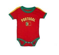 Portugal-Internatio-Baby-Bodysuit-Soccer-Futbol-Jersey-Tshirt-Flag-Cotton-Dressy