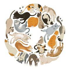 Cats by Wonho Jung, via Behance