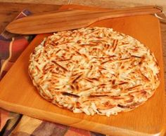 Potato Roesti or Rosti - traditional Swiss potato dish served as a crispy side dish or snack