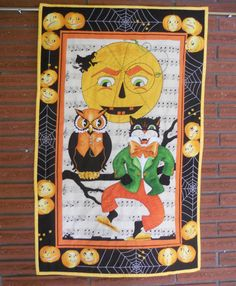 Halloween Quilted Wall Hanging Table Runner by ForgetMeNotQuilteds
