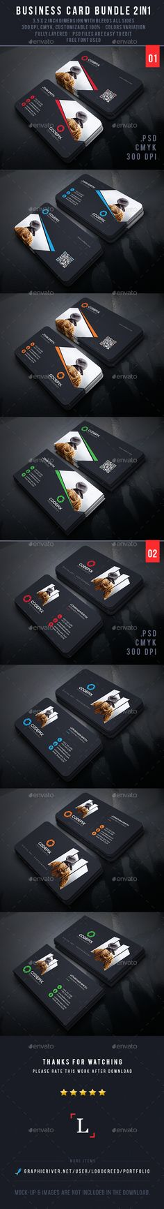 Photography Business Card Bundle Template PSD #design Download: http://graphicriver.net/item/photography-business-card-bundle/13961627?ref=ksioks