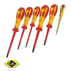 - Dextro 6 Piece Parallel and Pozidriv VDE Screwdriver and Voltage Tester Set, CK Tools