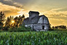 Abandoned Barn Sunset