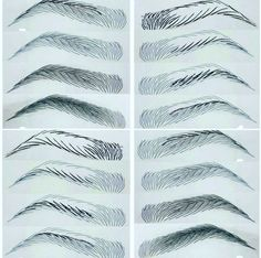 Step right from left to right and bottom left step r.- Step right from left to right and bottom left step right to left Step right from left to right and bottom left step right to left - Eyebrows Sketch, Mircoblading Eyebrows, How To Draw Eyebrows, Permanent Makeup Eyebrows, Eyebrow Beauty, Eyebrow Makeup, Medium Hair Braids, Phi Brows, Eyebrow Embroidery