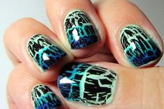 90+ Fantastic Crackle Nail Art For Your Super Cool Nails