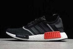 2020 adidas NMD R1 Pk Black/Red Men's Runing Shoes S32510 Nmd R1, Adidas Nmd_r1, Adidas Sneakers, Runing Shoes, Red, Black, Fashion, Red Black, Shoe