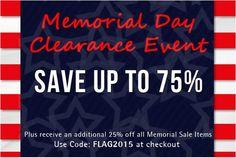 Memorial Day Clearance Sale#memorialdaysale