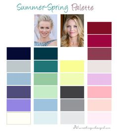 Summer-Spring, Light Summer color palette