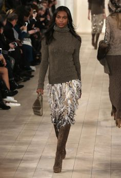 2015 Fall Runway Fashion from Ralph Lauren: Feathers for Fall from Ralph Lauren