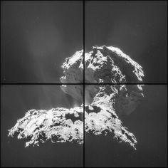 || 30.1 km above 67P/Churyumov-Gerasimenko, November 26th 2014. High-contrast. ESA/Rosetta/NAVCAM – CC BY-SA IGO 3.0