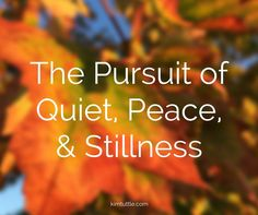 It's worthwhile to pursue the quiet peace and stillness we need in our everyday | simple living | chaos free | clutter cutter | social media | helpful tips | time management | friendship | relationship | breathing room | margin | schedule | design blog | kimtuttle.com | design organize simplify | inspiration and encouragement for a God centered home