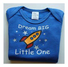 Spaceship Baby Onesie Dream Big Little One #hep #craftshop #craftfair #shopperhour
