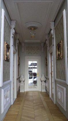 5 - Le couloir du premier étage - maison miniature à l'échelle 1/12