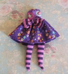 OOAK Custom Blythe lila rosa Orange Aqua gelb Lavendel Blumen Hippie Print…