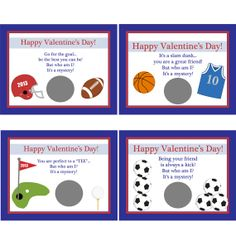 30 Personalized Scratch Off Valentine Cards for Kids by partyplace, $25.00