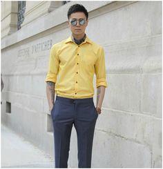 coloured shirt summer men style