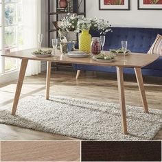 Norwegian Mid Century Danish Modern Tapered Dining Table by MID-CENTURY LIVING | Overstock.com Shopping - The Best Deals on Dining Tables