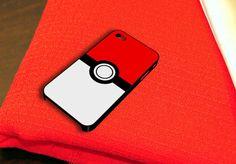 Pokemon Pokeball iPhone 4 iPhone 4S Case by caseboy on Etsy, $15.79