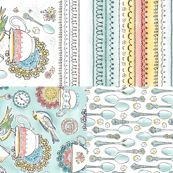 Tea Time Kitchen Towel Set Of 4 Designs - heatherdutton - Spoonflower