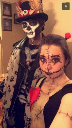 Voodoo doll and voodoo master couples costume