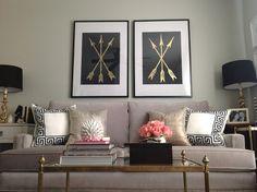 Confetti and Stripes: DIY gold leaf art My Living Room, Home And Living, Living Room Decor, Living Spaces, Living Area, Inspiration Design, Home Decor Inspiration, Design Ideas, Zona Colonial