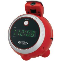 Jensen Am And Fm Projection Clock Radio (red) - Consumer Electronics