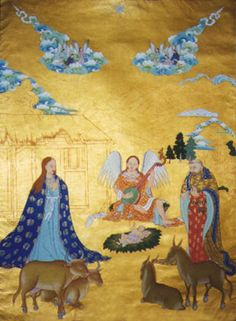 Tibetan Nativity Scene - Thank You Gift from Dalai Lama for the Way of Peace, India
