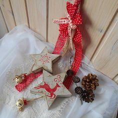 tinuszDecorArt / Dekorácia vianočné shabby hviezdy