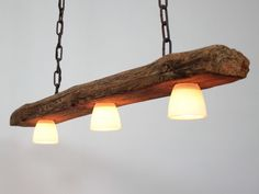 Hangelampe Deckenlampe Lampe Rustikal Holz Holzbalken Led