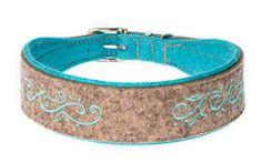 """Besticktes Halsband """"Bhagwan"""" mit filigraner Stickerei. Breite ca. 4 cm, in zahlreichen Farbkombinationen erhältlich."""